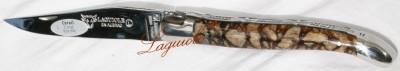 Taschenmesser mit Tigerkoralle und Doppelplatine